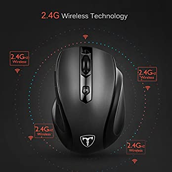 VicTsing MM057 2.4G Wireless Portable Mobile Mouse Optical Mice with USB Receiver, 5 Adjustable DPI Levels, 6 Buttons for Notebook, PC, Laptop, Computer, MacBook