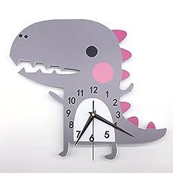 Laz Tipa 3D Animal Wall Clock Dinosaur Pattern Design Decoration Bedroom Creative Digital Watches child Wallpaper Silent clock 62 X 40cm