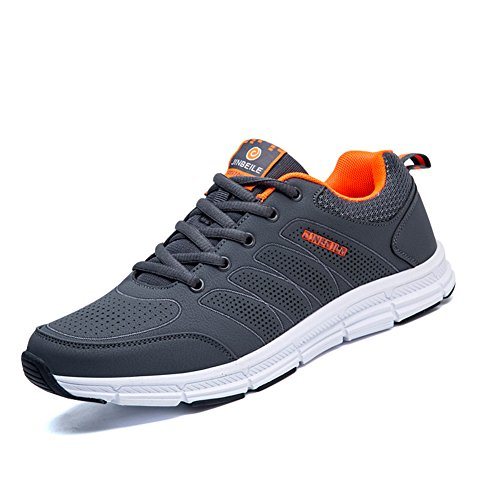 Sneakers Sports Walking Shoes Up 5 Grey 6 M Running US Lace Breathable Mens Lightweight Tennis D fYdqYw