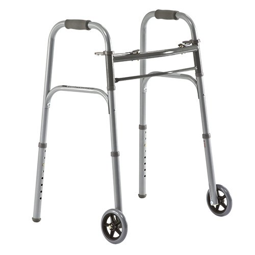 Medline Two Button Folding Walkers Wheels