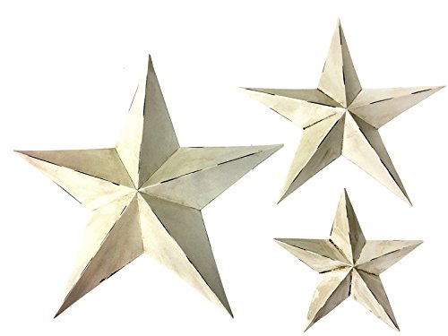 3 Metal Wall Star Vintage Style Rustic Western Country House Texas Barn Indoor Outdoor Hanging - Rustic Star