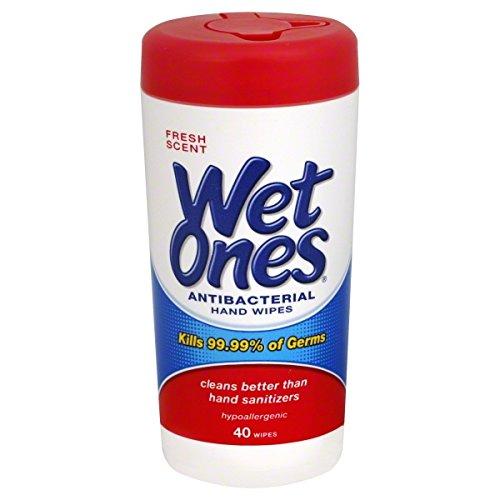 Wet Ones Antibacterial Hand Wipes, Fresh Scent 40 ea (Wet Ones Moist Wipes Antibacterial)