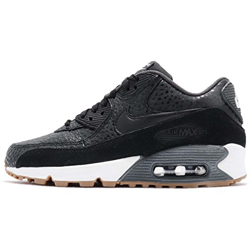 Nike Womens Air Max 90 Prem Black/Black/Black/White Running Shoe 6.5 Women US by NIKE