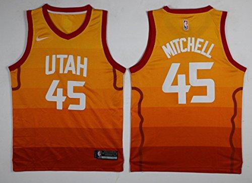 ROSIE NICOLAS Men's Donovan Mitchell Orange Break Replica Player Jersey – DiZiSports Store