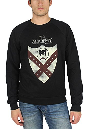 Profound Aesthetic - Victory Shield Crewneck Sweater in Black, Large, - Aesthetic Profound