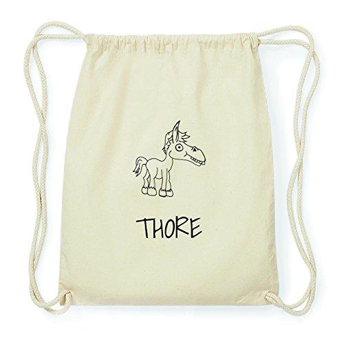 JOllipets THORE Hipster Turnbeutel Tasche Rucksack aus Baumwolle Design: Pferd