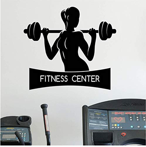 LSFHB Female Fitness Wall Sticker Healthy Lifestyle Gym Sport Vinyl Sticker Home Wall Art Decor Ideas Interior Design -
