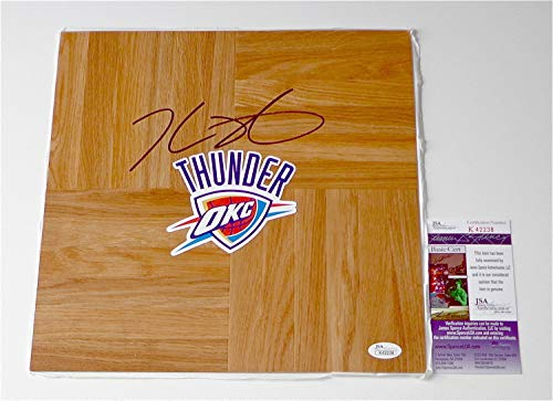 Kevin Durant Autographed Signed Oklahoma City Thunder Basketball Floorboard Memorabilia JSA K42238 - Certified Signature