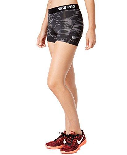 Nike Pro Cool Printed Training Shorts Black/Grey, Large by NIKE