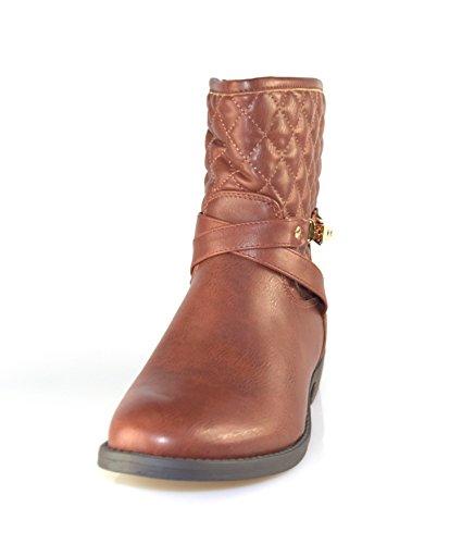 marrón de mujer de cuero Marrón imitación para Botas Unbekannt pqvZA