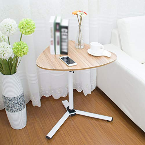 (NEYIUIA Computer Desks for Small Spaces Floor-Standing Laptop Stand/Bedside Desk/Study Table/Dining Table/Lazy Desk 360° Rotatable Adjustable Height (62-90Cm),Oak)