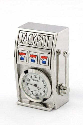 Trendy Fashion Jewelry Slot Machine Clock By Fashion Destination | (Silver)
