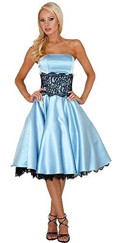 Alice In Wonderland Prom Dress (Kissprom Blue Satin Strapless Alice in Wonderland Short Empire Lace Bridesmaid Dress (US 12))