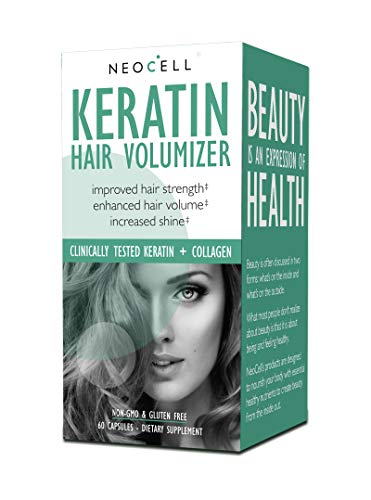 NeoCell - Keratin Hair Volumizer - 60 Capsules (Packaging May Vary) (Best Vitamin E Capsules For Hair)