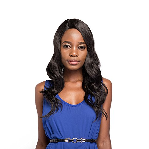 Tress Synthetic Wig - X-TRESS Synthetic Lace Front Wigs Dark Brown Wavy Synthetic Wigs Medium Long Heat Resistant Wigs Synthetic Body Wave Wavy Skin L-part Side Part Lace Front Wigs For Black Women (Dark Brown)