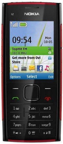 Amazon Com Nokia X2 X2 00 Red On Black Unlocked Phone Cell
