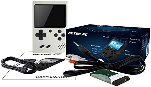 JAFATOY Retro Handheld Games Console for Kids/Adults, 168 Classic Games 8 Bit Games 3 inch Screen Video Games with AV Cable Play on TV (White) Best Deal Site | Setia menemani anda