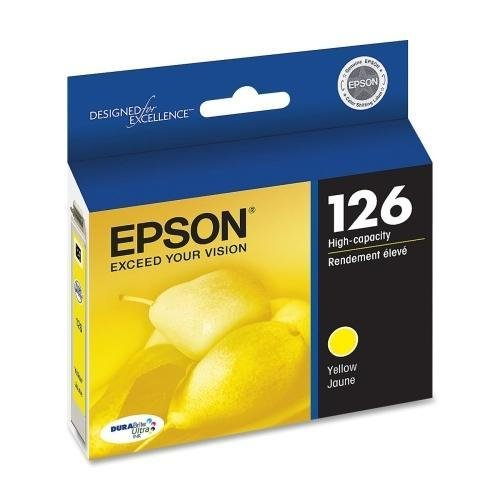 Epson NX330/430/Workforce 60/435/520/545/630/633/635/645/7010/840/845 DURABrite Ultra High Capacity Yellow Ink (470 Yield) Yellow Ink (470 Yield), Part Number T126420