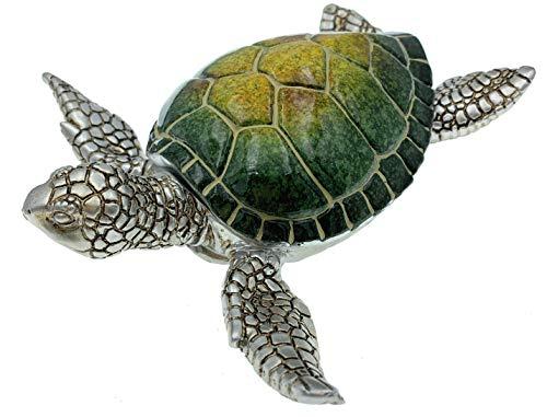 Globe Imports Sea Turtle Hinged Lid Keepsake Box - 6.25 Inches Long