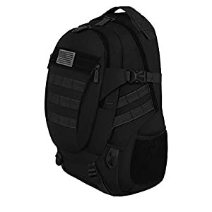 East West U.S.A RT523 Tactical Multi-Use Molle Assault Military Rucksacks Backpack, Black