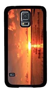 Customized Samsung Galaxy S5 Black Edge PC Phone Cases - Personalized Fishing Nets Sunset Cover