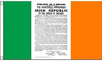 5ft x 3ft 150 x 90 cm easter proclamation ireland irish tricolour