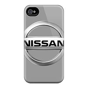 Iphone 4/4s QAq19288ZiYD Unique Design Trendy Nissan Logo Pictures Shock Absorbent Hard Phone Case -JamieBratt