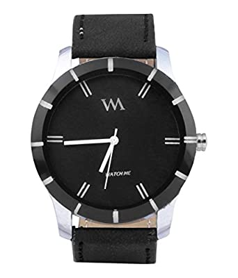 c2001b76b87 Buy Watch Me Black Leather Analogue Black Dial Womens   Girls Watch-Wmal-002New  Online at Low Prices in India - Amazon.in