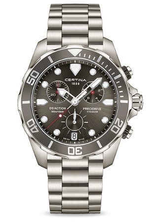 Certina Men's DS Action 43mm Silver-Tone Titanium Bracelet & Case Quartz Analog Watch C032.417.44.081.00