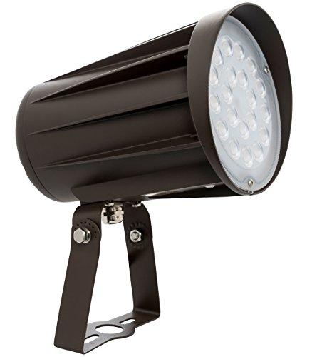 Westgate Lighting LED Outdoor Landscape Garden Bullet Flood Lights - Path Walkway Lawn Spotlights - Trunnion Mount - IP65 Waterproof - High Lumen - UL/DLC Listed - 120-277V (50W, 5000K Cool White)