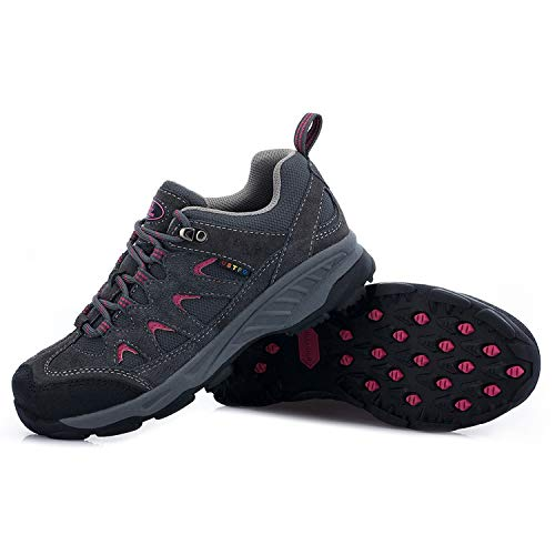 TFO Hiking & Trekking Shoes Womens California Breathable Low Trail Running Shoes for Hiker Light Black