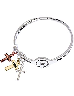 When God look at mothers heart felt poem poet mobius charm bangle bracelet inspirational