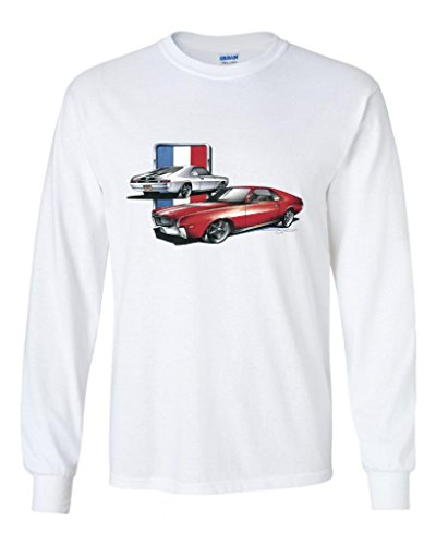 Fair Game AMC Rambler Javelin Hornet Gremlin AMX Long Sleeve T-Shirt-White-Large