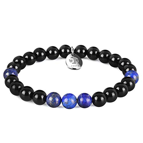JOXFA Inspirational Bracelet,8mm Natural Gemstone Bracelet Men