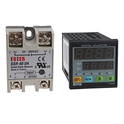 Temperature Controller TD4-SNR + Solid State Relay SSR-40DA, PID Control For Heating/Cooling Over
