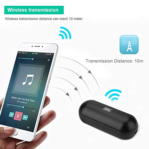 Instant Translator Device Smart Wireless Bluetooth Headset,ASHATA Waterproof 19 Language Translating Headphones Earpiece Earbuds with Dual Mic/Noise Reduction for Study Travel Busniess (Black) by ASHATA (Image #3)