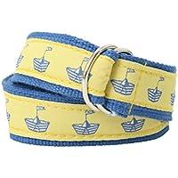 Bean Belts Boys Preppy Sailboats Belt