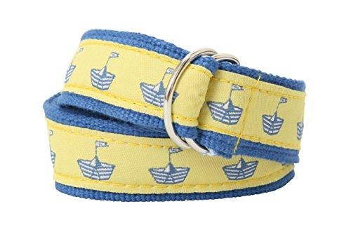 Bean Belts Baby-Boy's Preppy Sailboats Belt Small (3-18 Months)