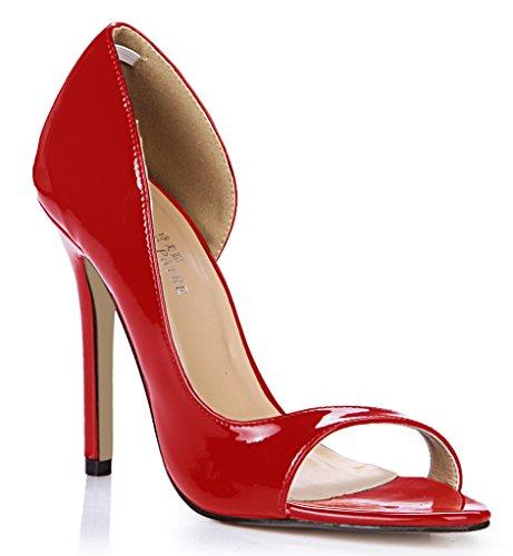 grande côté Red l'chaussures des femmes célibataires poisson Les annuelle de vide nouvelle session pearl de chaussures astuce talon à perle boîtes femmes haut rouge xOfwqUB4