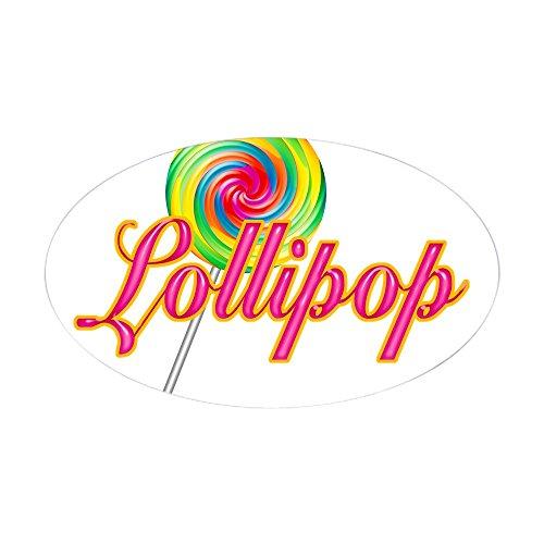 - CafePress Text Lollipop Oval Sticker Oval Bumper Sticker, Euro Oval Car Decal