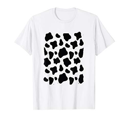 Cow Print Costume Tee Funny & Cute Animal Halloween Gift]()