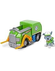 PAW Patrol, Vuilniswagen met Rocky-verzamelfiguurtje, voor kinderen vanaf 3 jr.