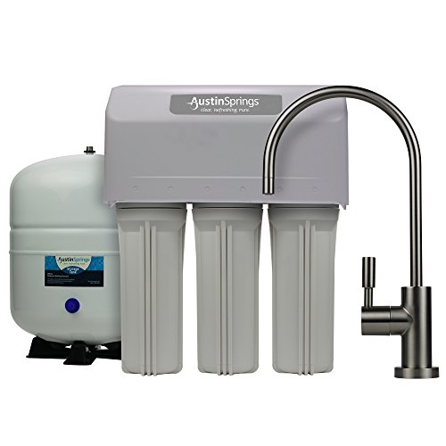 Austin Springs 5-Stage Reverse Osmosis Drinking Water Filter System with Brushed Nickel Faucet, 75 GPD by Austin Springs