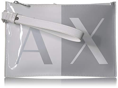 - A|X Armani Exchange Top Zip Pouch, White 241