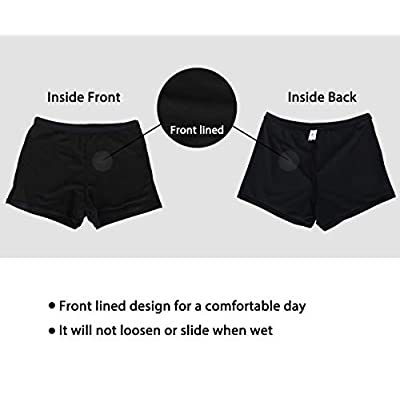 Yonique Womens Swim Shorts Solid Tankini Bottoms Swimsuit Bottoms at Women's Clothing store