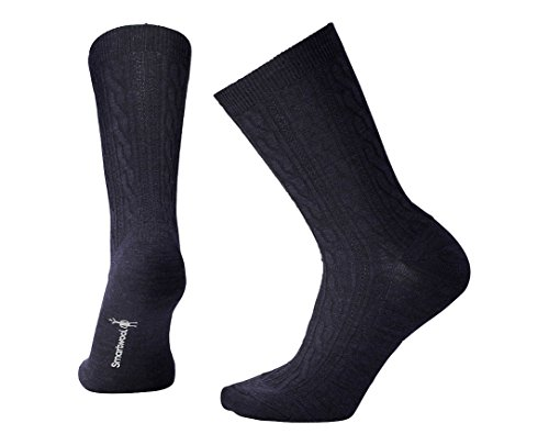 (Smartwool Women's Cable II Socks,Deep Navy Heather,Medium)