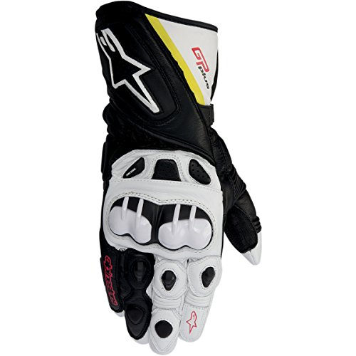 Alpinestars GP Plus Men's Street Motorcycle Gloves - Black/White/Yellow/Red / Large
