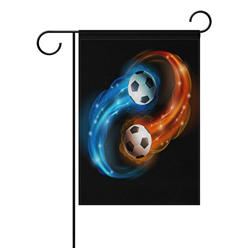 SPECIALHODE Ethel Ernest Flaming Soccer Football Double Sided Family Flag Polyester Outdoor Flag Home Party Decro Garden Flag ()