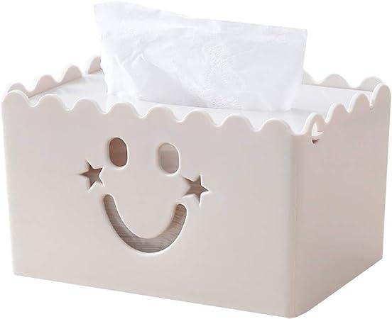 HEELPPO Cajas para pañuelos de Papel Caja de pañuelos Caja de pañuelos Cubre rectángulo Soporte de Caja de pañuelos Tejido Caja Cajas de pañuelos Beige: Amazon.es: Hogar
