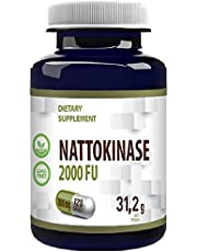 Nattokinase 100mg 120 Veganska kapslar 2000 FU, extraherad från fermenterade sojabönor, hög styrka, Gluten, GMO-fri